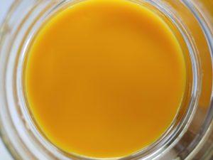 Orange soy close-up